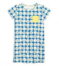 J.Crew Little Girls Brilliant Sea T-shirt Pocket Dress