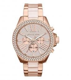 Michael Kors Rose Gold Embellished Watch