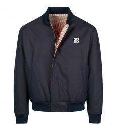 Kenzo Dark Blue Front Logo Jacket