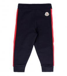 Moncler Baby Girls Navy Tricolored Striped Sweatpants