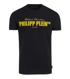 Philipp Plein Black Graphic Logo T-Shirt