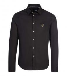 Love Moschino Black Logo Patch Shirt