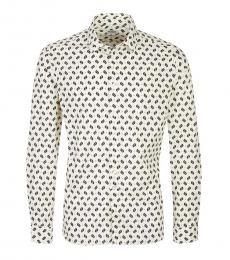Kenzo Off White Slim Fit Shirt
