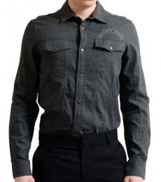 Dark Grey Roll Up Sleeve Shirt
