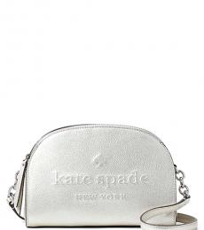 Kate Spade Silver Larchmont Avenue Medium Crossbody