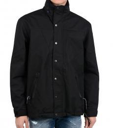 Black Cotton Blend J-Valley Jacket