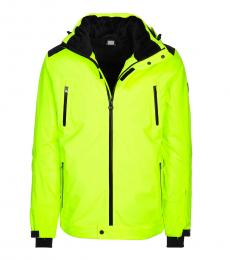 Emporio Armani Neon Green Logo Hooded Jacket