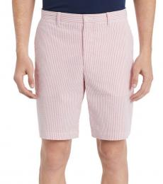 High Risk Red Classic-Fit Seersucker Shorts