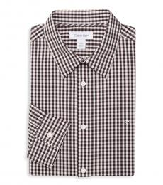 Calvin Klein Black Check Checkered Dress Shirt