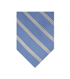 Michael Kors Cadet Blue Runway Striped Tie