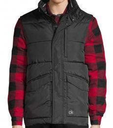Black Water-Resistant Puffer Vest