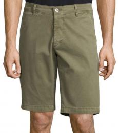 AG Adriano Goldschmied Military Green Griffin Tailored Shorts