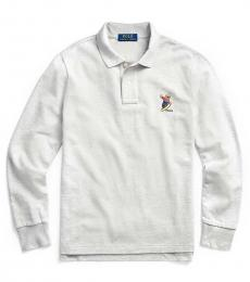 Ralph Lauren Boys Andover Heather Snowboard Bear Polo