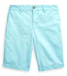 Boys Island Aqua Poplin Shorts