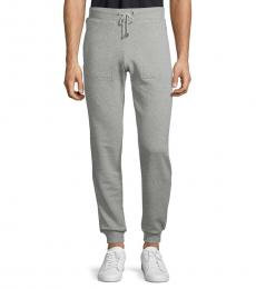 Grey Cotton Jersey Joggers
