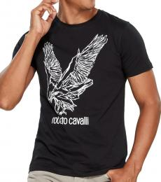 Black Graphic Logo Print T-Shirt