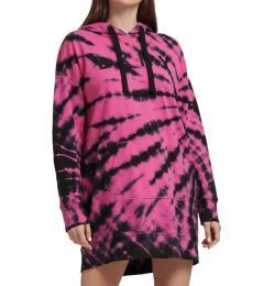 Pink Tie Dye Logo Sneaker Dress