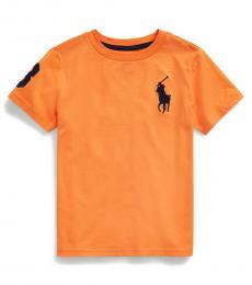 Ralph Lauren Little Boys Thai Orange Big Pony T-Shirt
