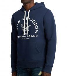Dark Blue Buddha Pullover Sweatshirt