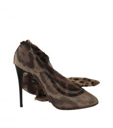 Dolce & Gabbana Leopard Print Long Sock Heels