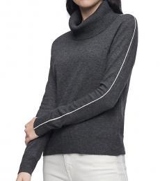 Calvin Klein Grey Side Stripe Sweater