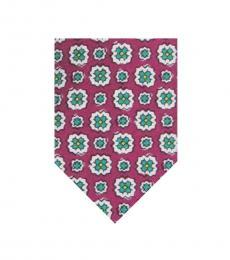 Dark Pink Floral Tie