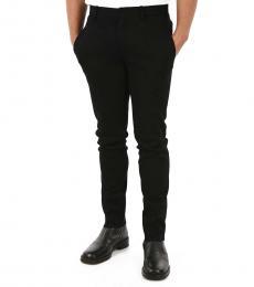 Black Neoprene Skinny Fit Pants