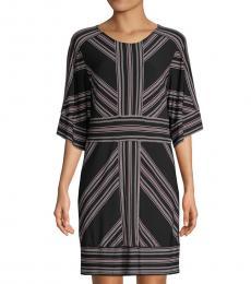 BCBGMaxazria Multi color Striped Shift Dress