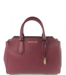 Michael Kors Red Hayes Large Satchel