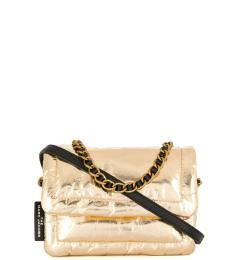 Marc Jacobs Gold Pillow Small Shoulder Bag