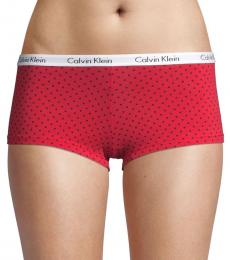 Calvin Klein Red Printed Stretch Boyshorts