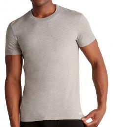Dolce & Gabbana Light Grey Cotton Crew T-Shirt