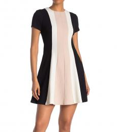 Vince Camuto Multi color Short Sleeve Colorblock Dress