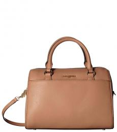 Karl Lagerfeld Vicuna Iris Medium Satchel