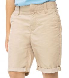 Little Boys Tan Ripstop Shorts