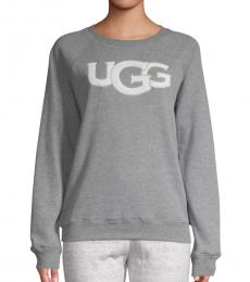 UGG Grey Fuzzy Logo Pullover