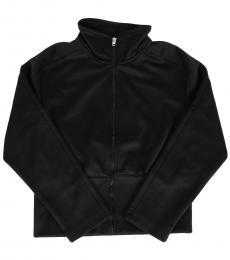 Girls Black Zipped Jacket