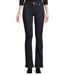True Religion Black Mid-Rise Bootcut Jeans