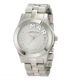 Marc Jacobs Silver Rivera Logo Watch