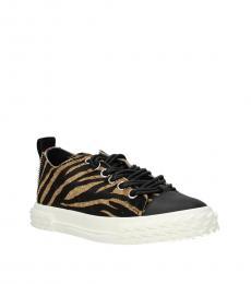 Giuseppe Zanotti Brown Animal Print Sneakers