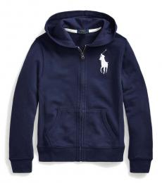 Ralph Lauren Boys Newport Navy Big Pony French Terry Hoodie
