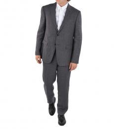 Ermenegildo Zegna Grey Side Vents Button Suit