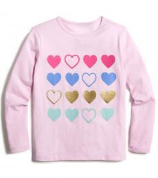 J.Crew Girls Soft Peony Grid T-Shirt