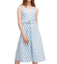 Kate Spade Blue Heron Deck Stripe Sleeveless Dress