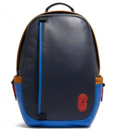 Coach Blue Multi Edge Large Backpack