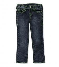 True Religion Little Boys Sail Blue Stitching Jeans