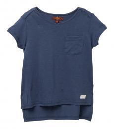 7 For All Mankind Little Girls Vintage Indigo High/Low T-Shirt