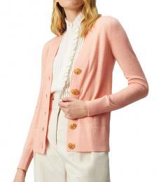 Tory Burch Light Pink Simone Cardigan