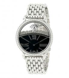 Versace Silver Floating Sphere Watch