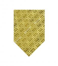 Burberry Mustard Yellow Silk Tie